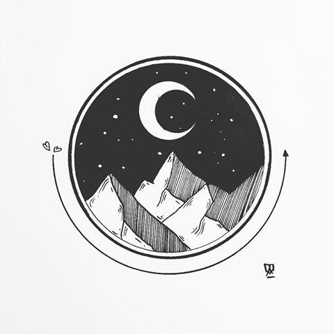 Drawn landscape (@eva Svartur Instagram #drawing Eva