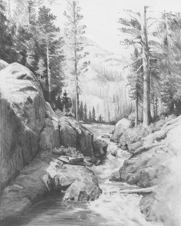 Drawn scenery forest Ideas drawing landscape Top nature
