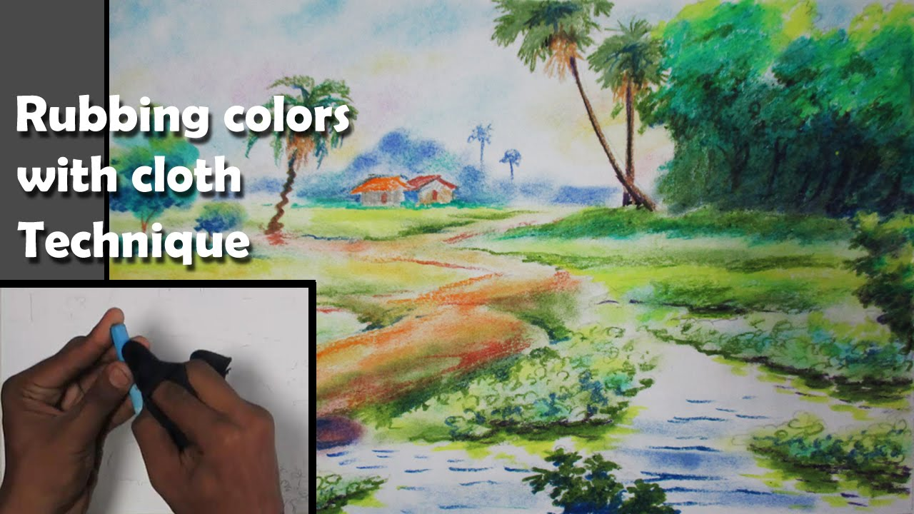 Drawn scenic pastel Pastel Oil with Pastel Tutorial