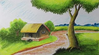 Drawn scenery landscape 6 Draw How Pastels Thumbnail:
