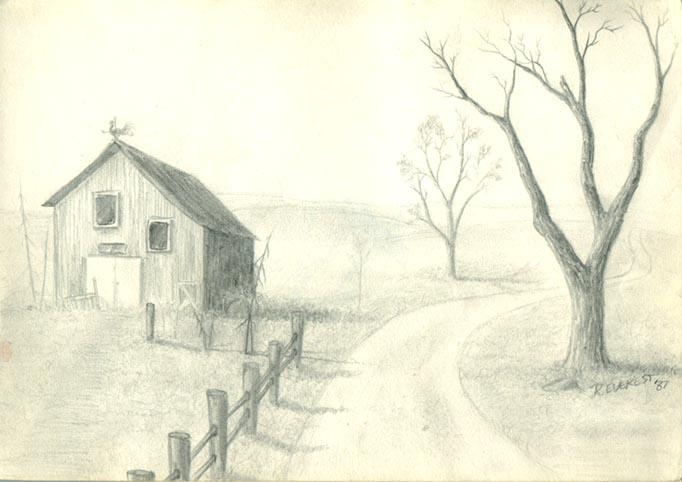 Drawn road pencil drawing  Shangri Pond Drawings La