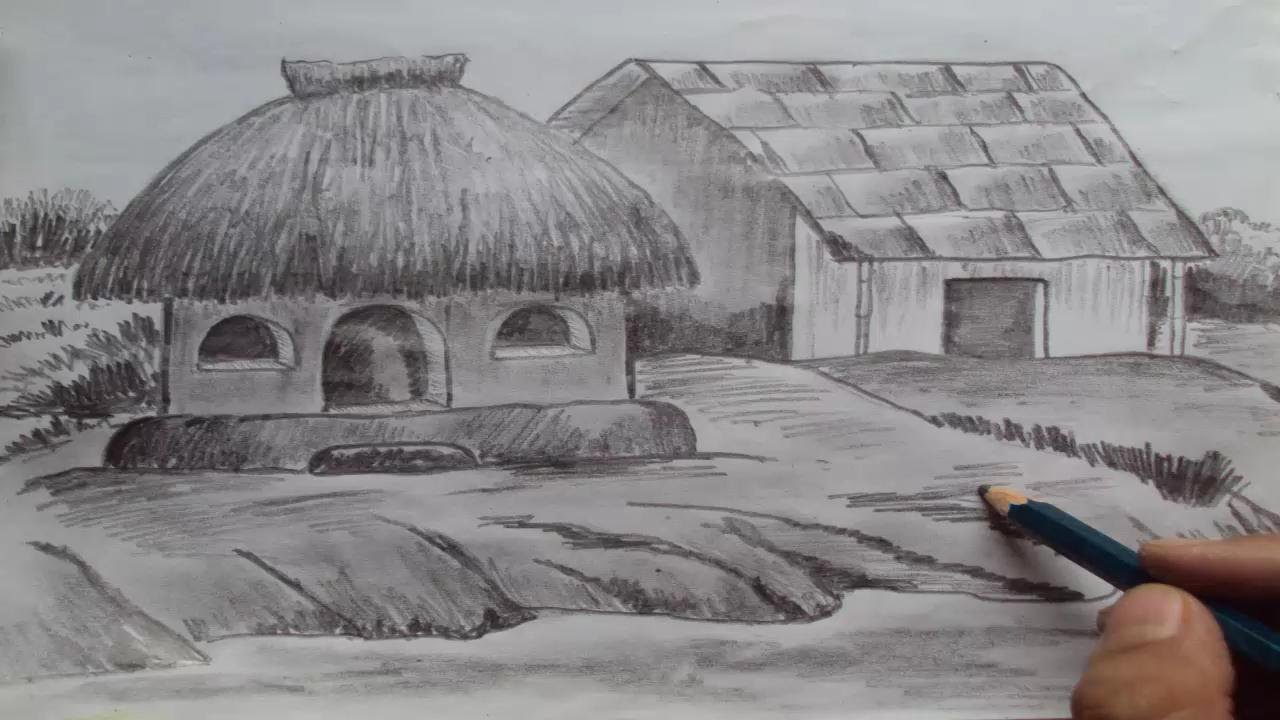 Drawn scenery shading How YouTube a to Pencil