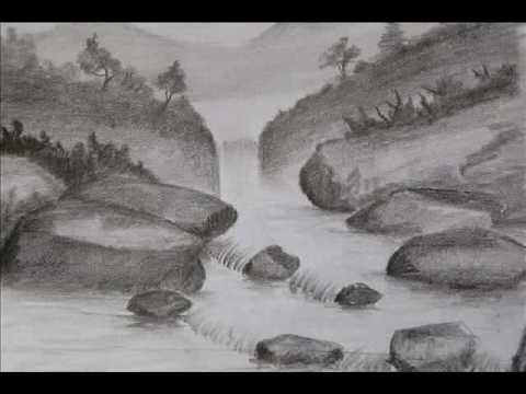 Drawn scenery shading Pencil Images Landscapes shading Landscapes