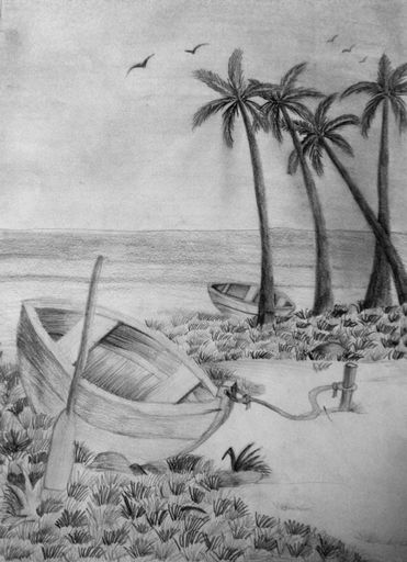 Drawn scenery shading Pencil Patel Vidhi scenery by