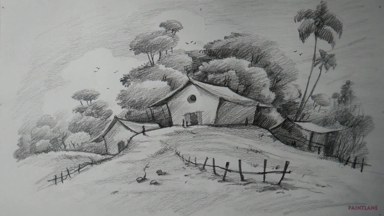 Drawn scenic beginner PENCIL For Simple Draw with