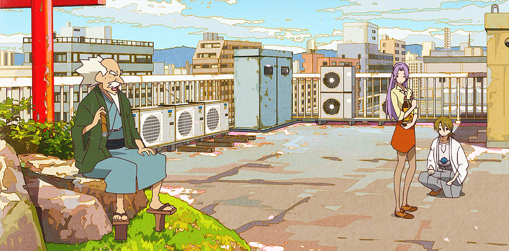 Drawn scenery anime Eccentric animation art kazoku anime