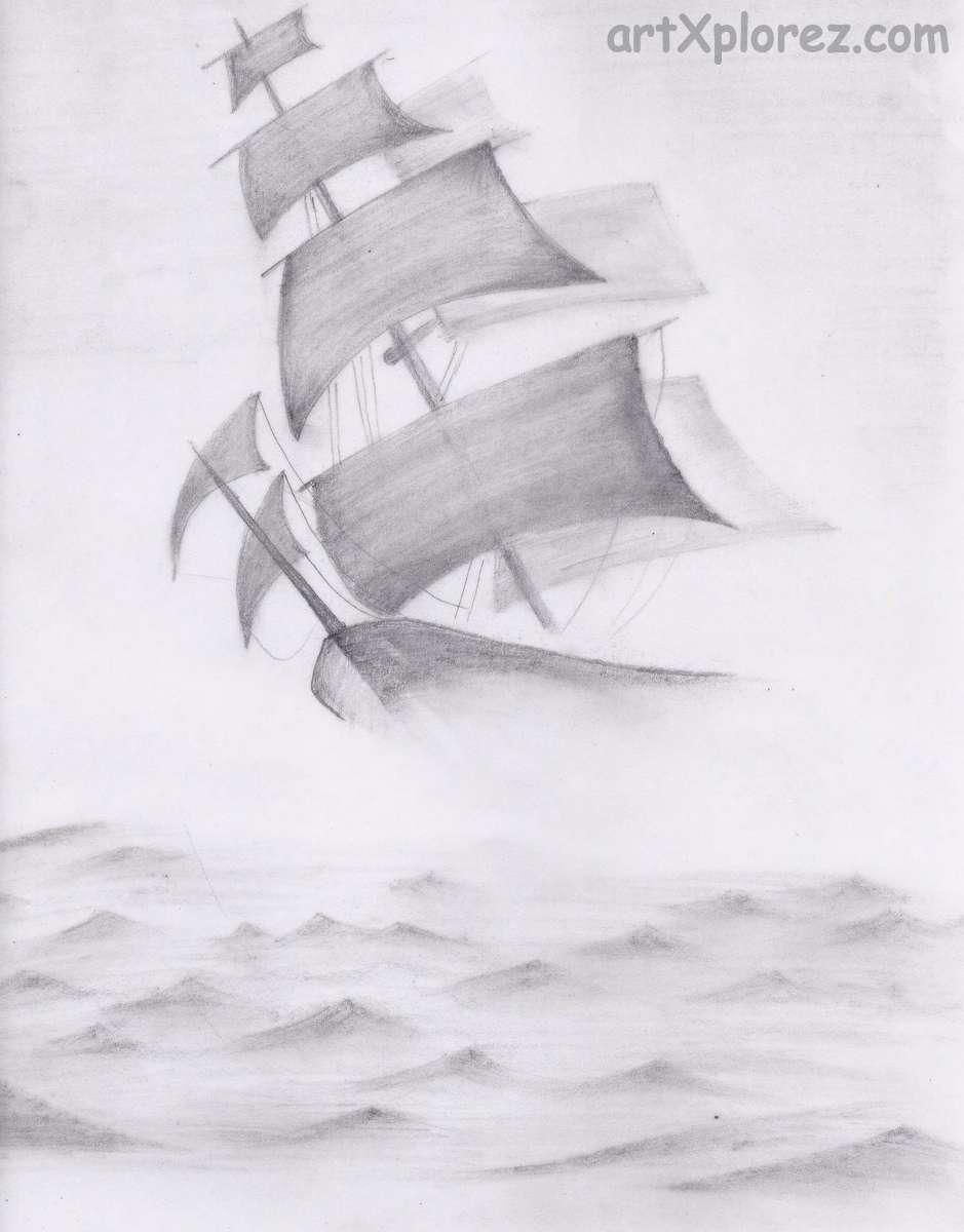 Drawn sea pencil drawing Landscapes artXplorez pencil sea Pencil