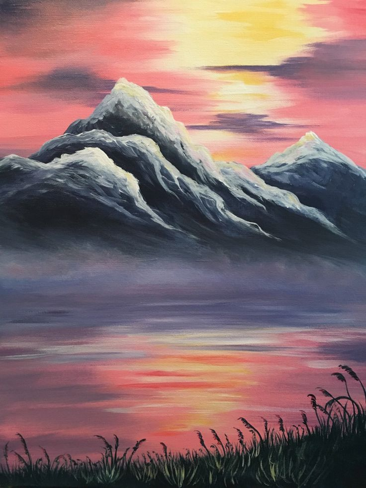 Drawn sunset mountain 20+ ideas Pinterest Mountain Best