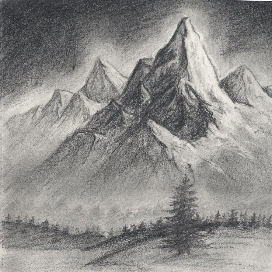 Drawn mountain realistic More! and Drawing Mountain Mountain