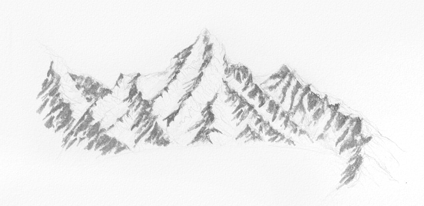 Drawn snowfall ice mountain Winter how on Draw How