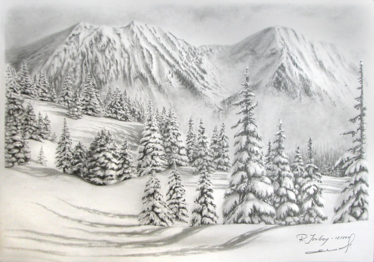 Drawn snowfall sun Black cm Rauf ©2012 by