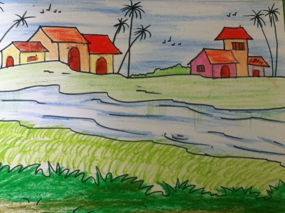 Drawn scenery easy Simple kids for YouTube in