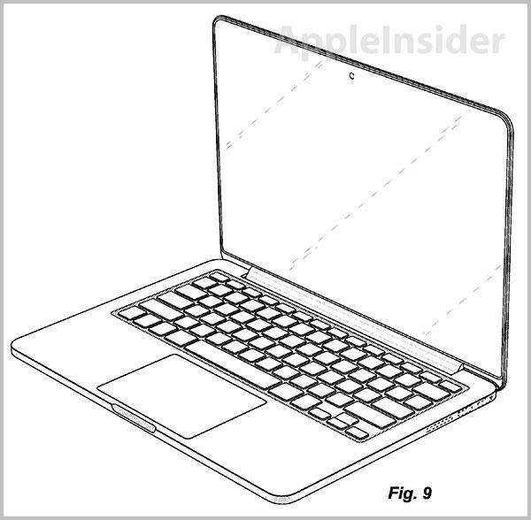 Drawn laptop Pro Retina with design Apple