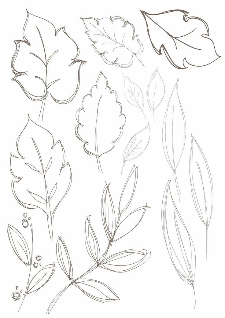 Drawn leaves flower leaves Ideas on Watercolor Leaf Find