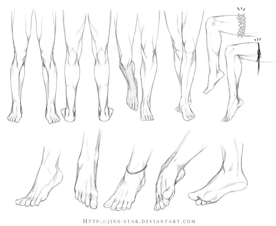 Drawn legs STUDY+  by jinx by