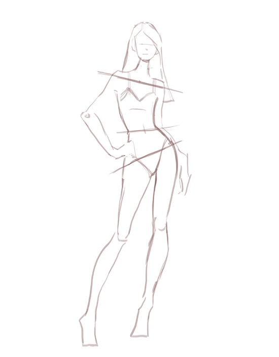 Drawn figurine body How Poses: Draw Movement to