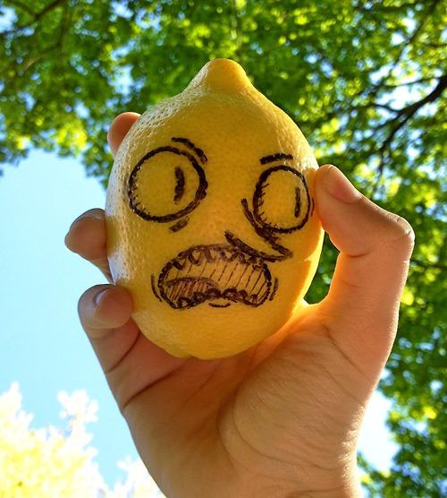 Drawn lemon face IRTI #7627 drawn #adventure grab#face