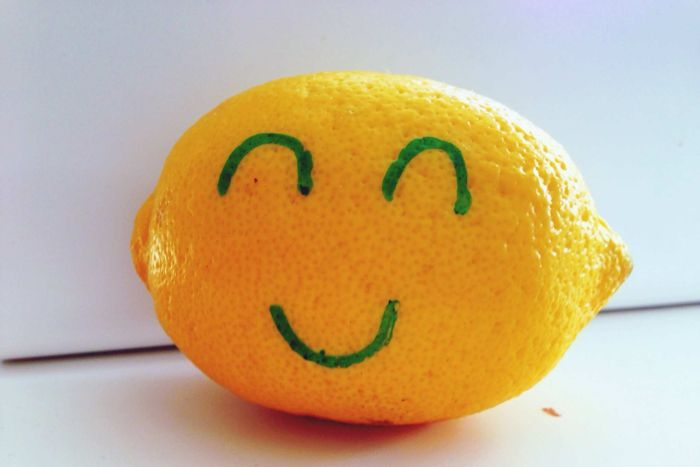 Drawn lemon face All Mind face with smiley