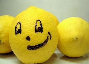 Drawn lemon face Face bitter lemon Bitter lifespa