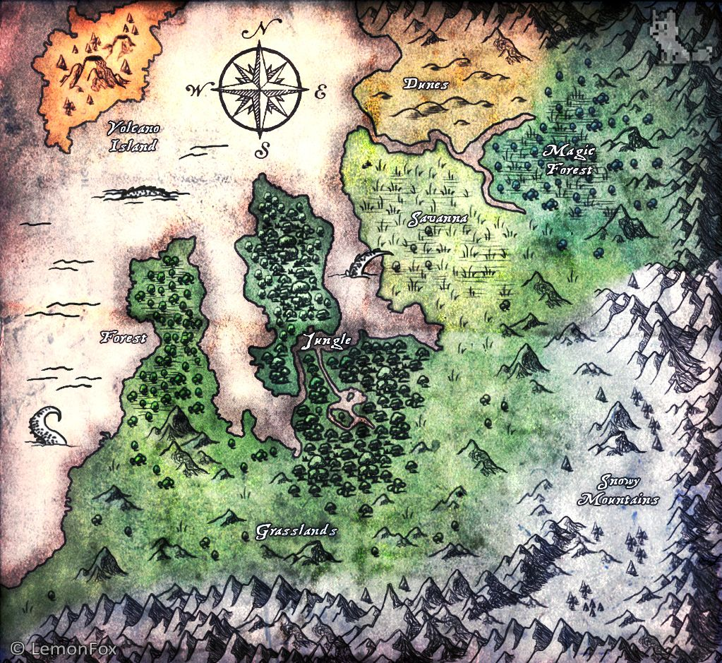 Drawn lemon minecraft  4000x4000 (size: Map Fantasy