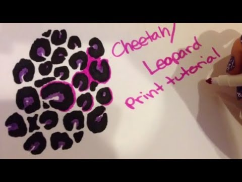 Drawn leopard skin black Print Drawing  Tutorial YouTube