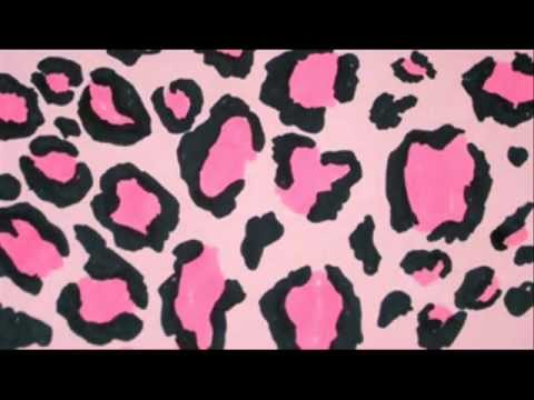 Drawn leopard skin cheetah Pattern Print Pink Pink