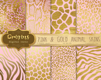 Drawn leopard skin gold Zebra animal African giraffe Etsy