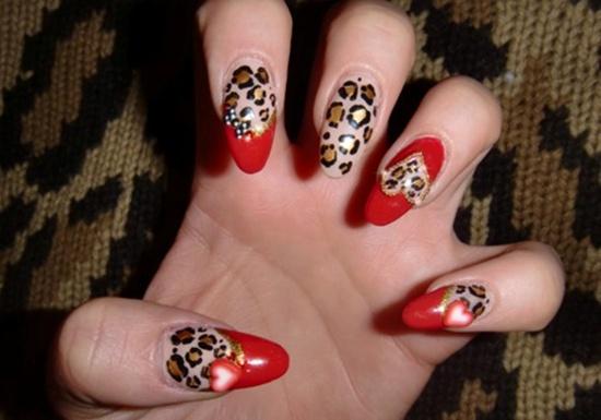 Drawn nail leopard Red Designs art 40 Classic