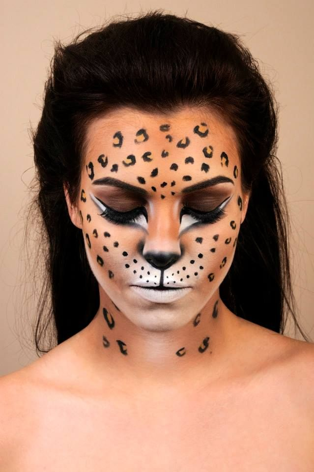 Drawn leopard skin painting A makeup Leopard on 9