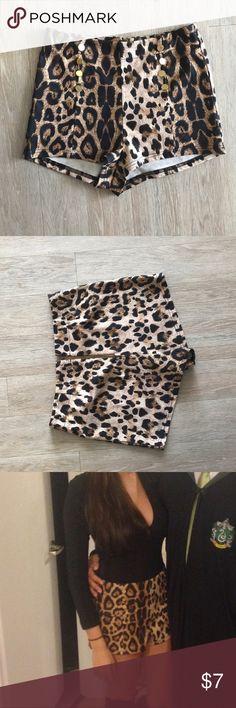 Drawn leopard skin shorts Shorts Leopard High Print