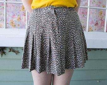 Drawn leopard skin shorts Leopard print Etsy Print Vintage