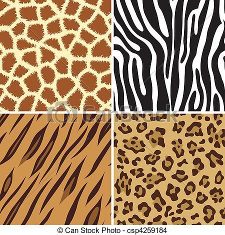 Drawn leopard skin sketch Animal print Vector Seamless print