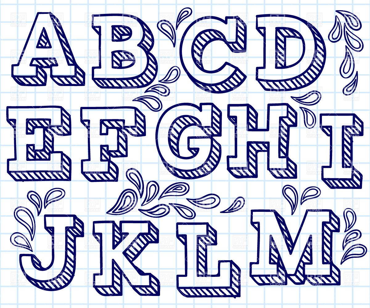 Lettering clipart big And free 29198 download font