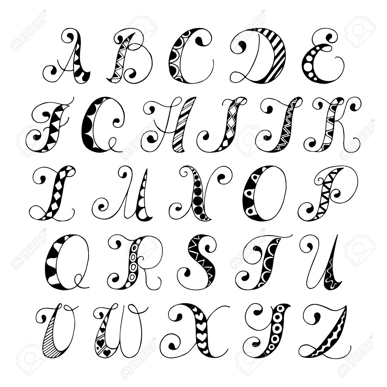 Drawn number fancy font #14