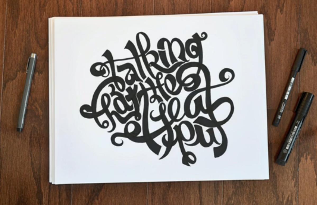Drawn lettering &  combination great Bob