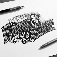 Drawn lettering Fun drawn Hand & Class