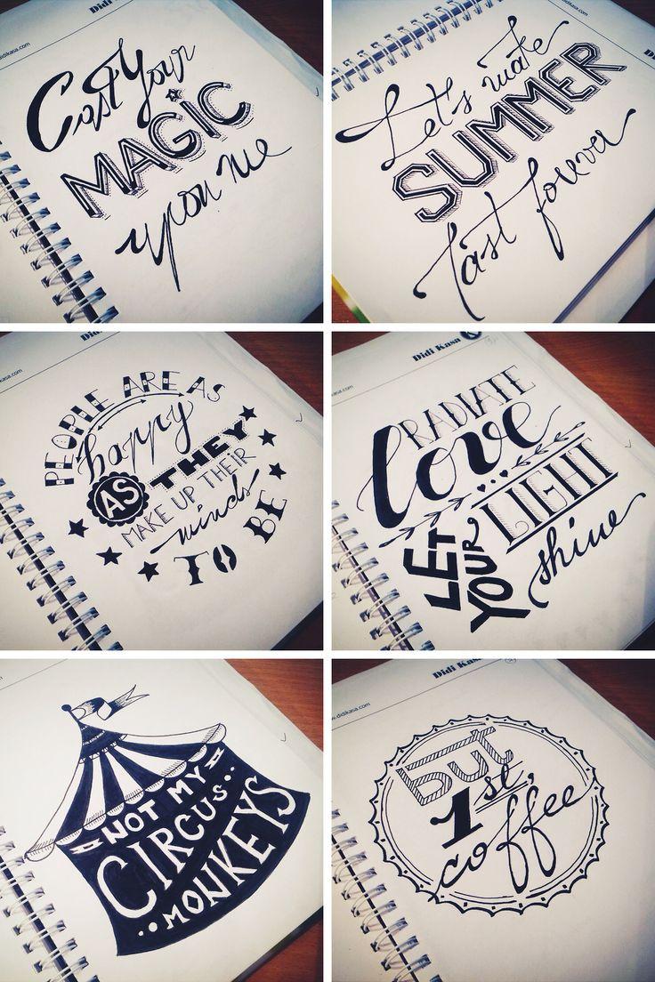 Drawn lettering On wallpaper lettering 25+ Best