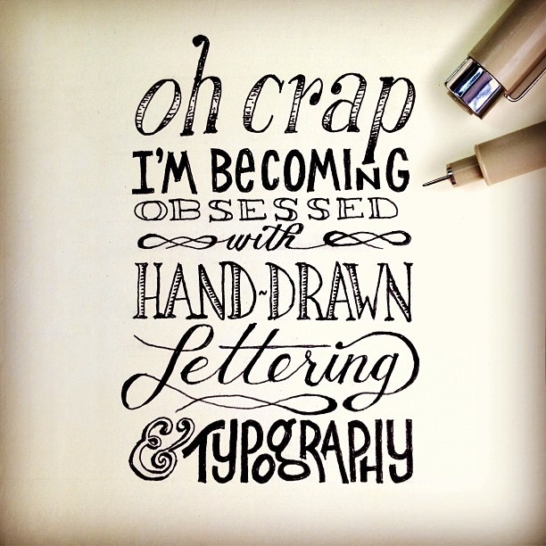 Drawn typography Drawn Pinterest lettering Hand Lettering