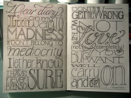Drawn lettering About best on 35 images