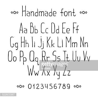 Drawn typeface abc letter different Hand fonts Pinterest lettering Google