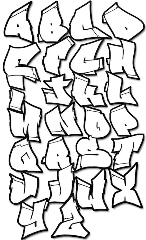 Drawn typeface 3d bubble letter 3D fonts of graffiti alphabets