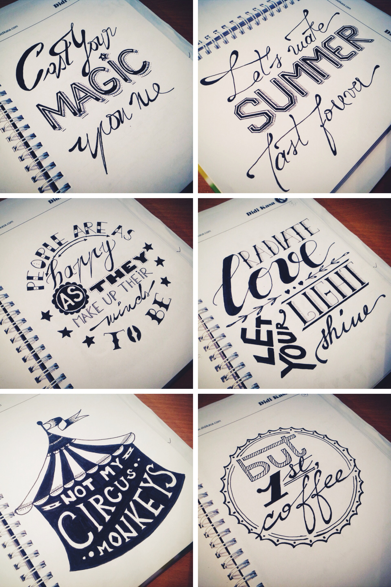 Drawn typography lettered Drawn & Graphic Hand Didi