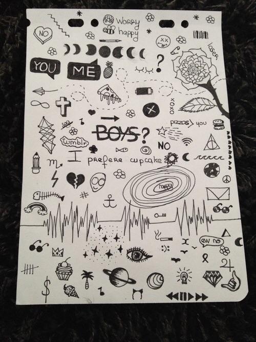 Drawn sad doodle It @ Pin typography )