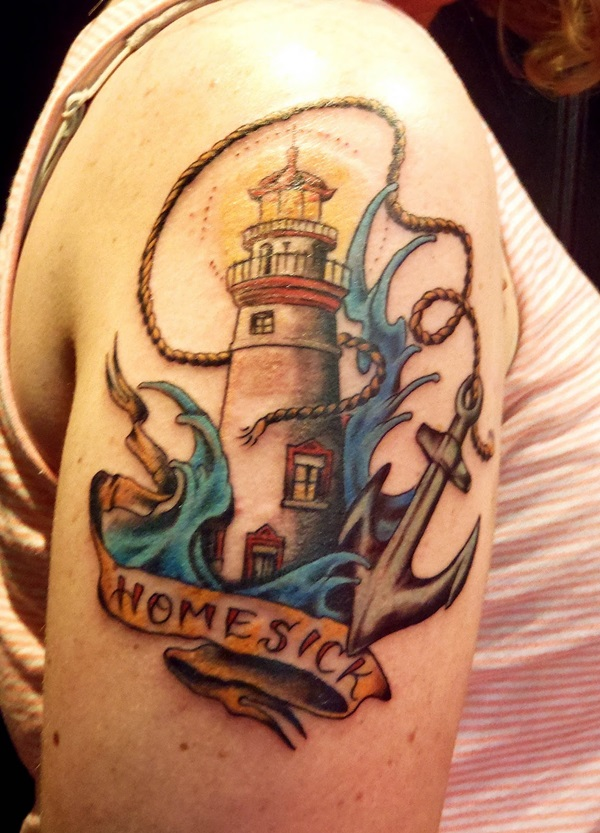 Drawn lighhouse cartoon Tattoos House Meanings and Lighthouse