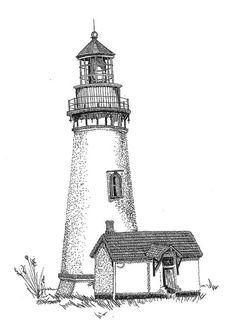 Drawn lighhouse cartoon Ink  Lighthouse Crafts &