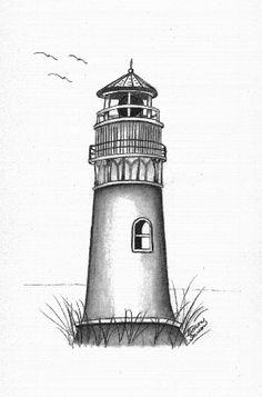 Drawn lighhouse black and white Kamenuka cartoon icons drawing lighthouse
