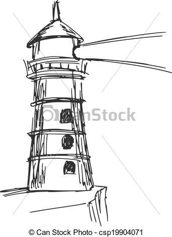 Drawn lighhouse cartoon Hand 300 Lighthouse Clipart and
