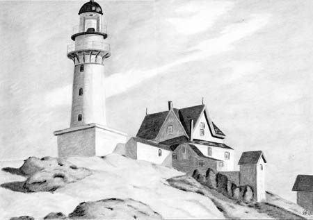Drawn lighhouse charcoal drawing Drawings: Pencil Light Lighthouse Pencil