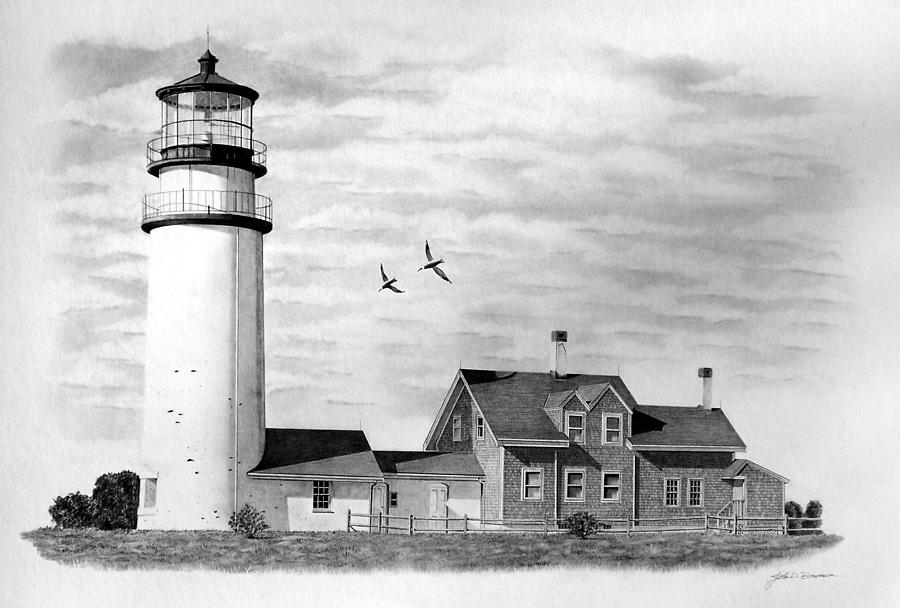 Drawn lighhouse charcoal drawing Lighthouse best  images 1031