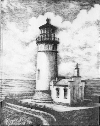 Drawn lighhouse landscape Clip Library com PEN EXHIBITION